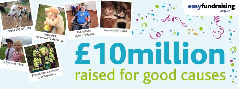 £10 million raised for good causes