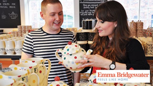 EMFFT Emma Bridgewater Factory Tour with Afternoon Tea for Two